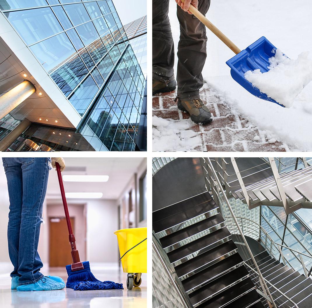 Mit Schwerpunkten in den Bereichen Gebäudereinigung, Hausmeisterservice und Winterdienst stehen wir als Reinigungsfirma aus Bremen für die gründliche Reinigung von Gebäuden.